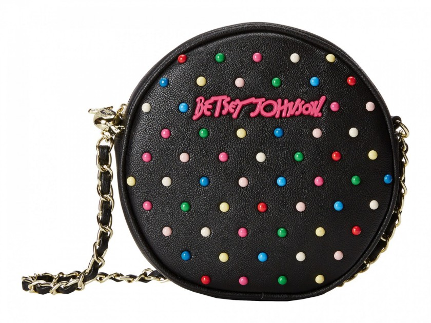 Betsey Johnson candy dots canteen crossbody bag